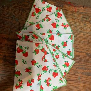 Strawberry cloth napkins